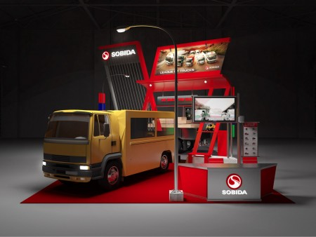 Sobida Exhibit Booth Design Philippines by Bluethumb Brand Design Agency